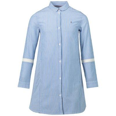 Picture of Tommy Hilfiger KG0KG04502 kids dress light blue