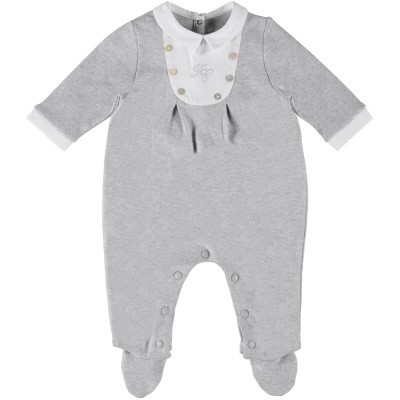 Picture of Tartine et Chocolat TN54081 baby playsuit grey