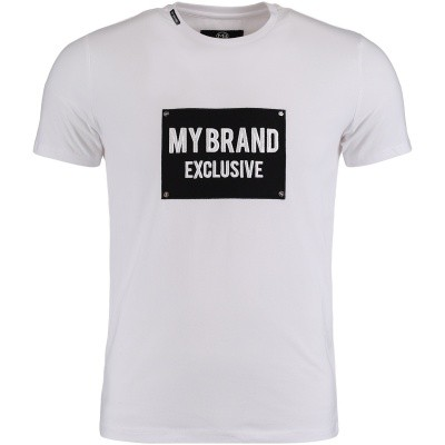 Afbeelding van My Brand MMBTS032GM005 heren t-shirt wit