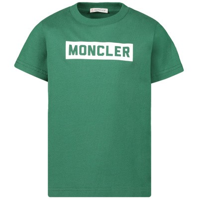 Afbeelding van Moncler 8026950 kinder t-shirt groen