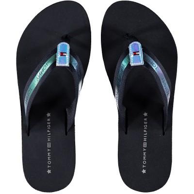 Afbeelding van Tommy Hilfiger FW0FW04016 dames slippers navy