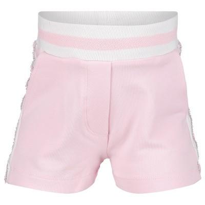 Afbeelding van MonnaLisa 393412R8 Joggingshorts licht roze
