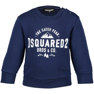 Picture of Dsquared2 DQ02XG baby sweater blue