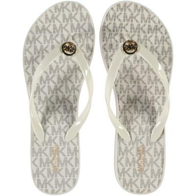 Afbeelding van Michael Kors 40S7BDFA1Q dames slippers off white