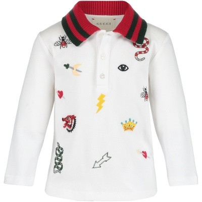 Afbeelding van Gucci 521162 baby polo wit
