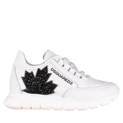 Afbeelding van Dsquared2 59828 GLITTER kindersneakers wit
