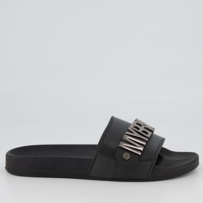 Picture of My Brand MMBSL001CL002 mens flipflops black