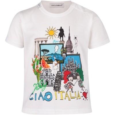 Afbeelding van Dolce & Gabbana L1JT8DG7OPB baby t-shirt wit