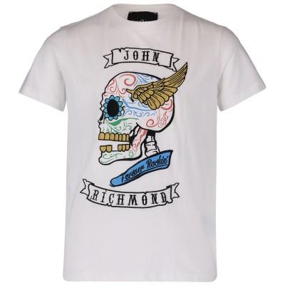 Afbeelding van John Richmond RBP19155 kinder t-shirt wit