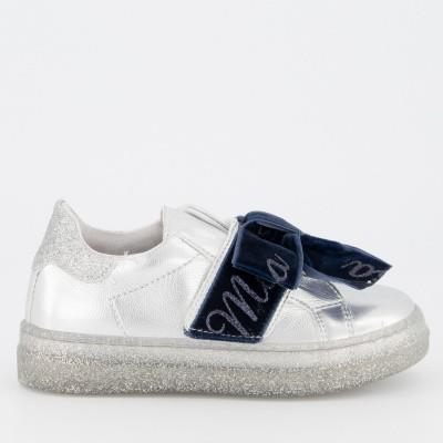 Afbeelding van MonnaLisa 8C4008 kindersneakers zilver