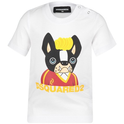 Picture of Dsquared2 DQ03BS baby shirt white