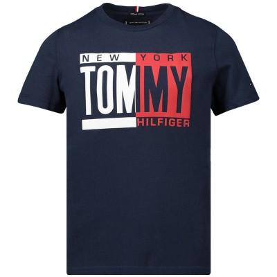 Afbeelding van Tommy Hilfiger KB0KB04994 kinder t-shirt navy