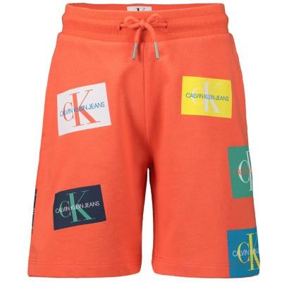 Afbeelding van Calvin Klein IB0IB00220 kinder shorts koraal