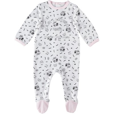 Picture of Karl Lagerfeld Z97025 baby playsuit light pink