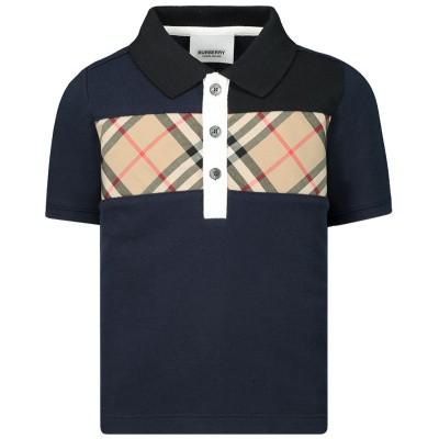 Afbeelding van Burberry 8017384 baby t-shirt navy