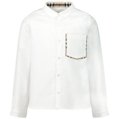 Afbeelding van Burberry 8011567 kinder overhemd wit