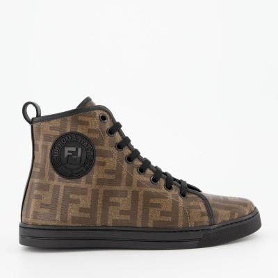 Picture of Fendi JMR298 kids sneakers brown