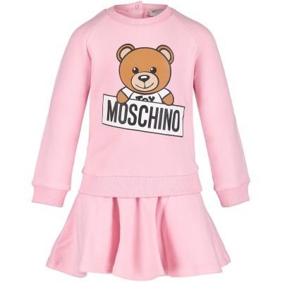 Afbeelding van Moschino MDY00D babyjurkje licht roze