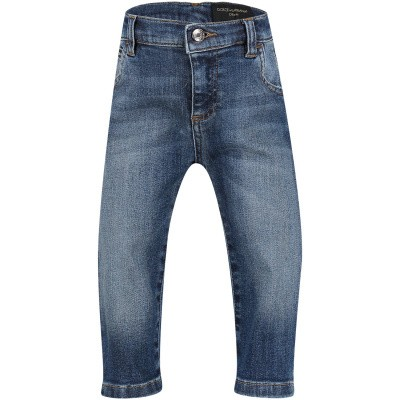 Afbeelding van Dolce & Gabbana L11F98 babybroekje jeans