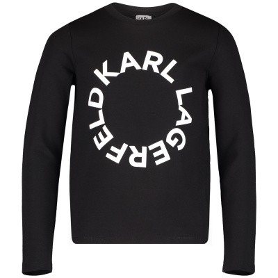 Picture of Karl Lagerfeld Z15189 kids sweater black