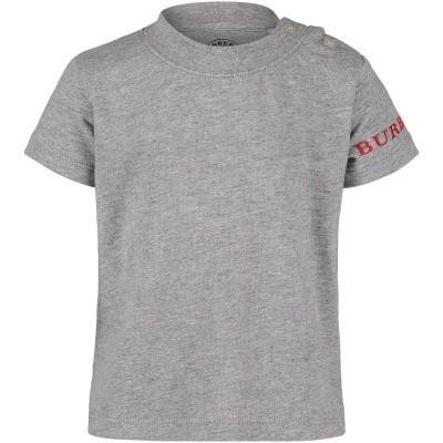 Afbeelding van Burberry 8002428 baby t-shirt grijs