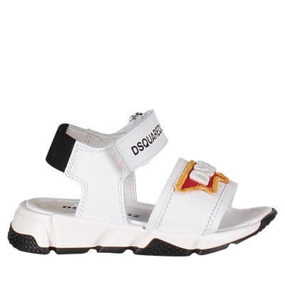 Picture of Dsquared2 59675 kids sandals white
