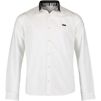 Afbeelding van Boss J25C62 kinder overhemd wit