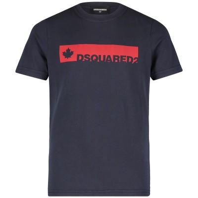 Afbeelding van Dsquared2 DQ02UT kinder t-shirt navy