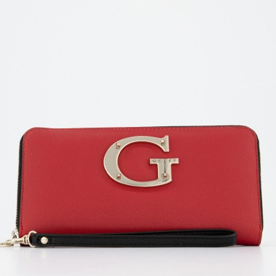 Picture of Guess SWVG7400460 womens wallet red
