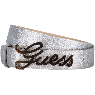 Picture of Guess BW7169VIN35 womens belt silver