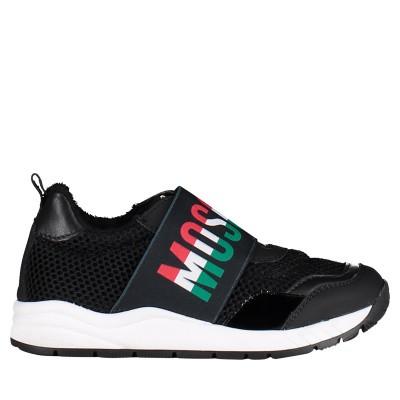 Afbeelding van Moschino 12013696 kindersneakers zwart