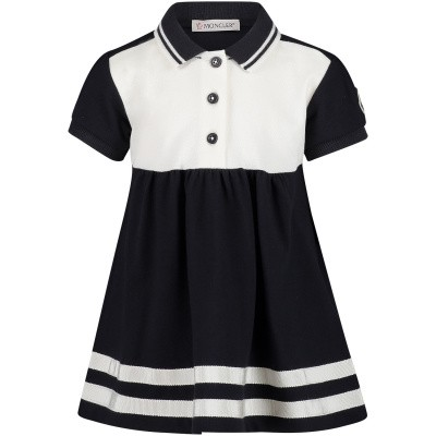 Picture of Moncler 8574105 baby dress navy