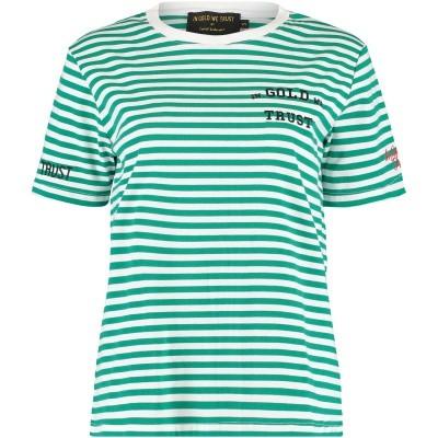 Afbeelding van in Gold We Trust FAW003 dames t-shirt groen