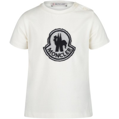 Afbeelding van Moncler 8069805 baby t-shirt off white