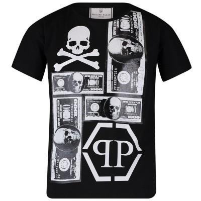 Afbeelding van Philipp Plein BTK0685 kinder t-shirt zwart