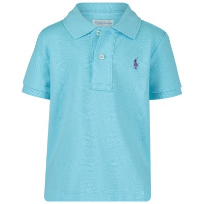 Picture of Ralph Lauren 703632 baby poloshirt turquoise