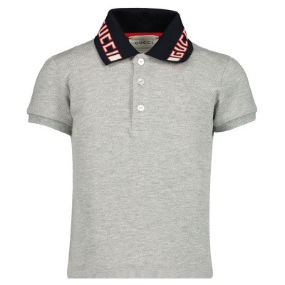 Picture of Gucci 522346 baby poloshirt grey