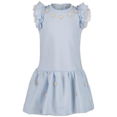 Picture of MonnaLisa 393904AN baby dress light blue