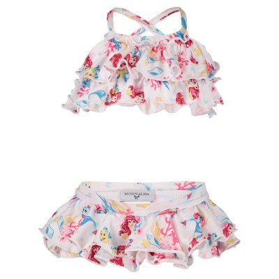 Picture of MonnaLisa 933008 baby swimwear white