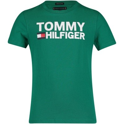 Afbeelding van Tommy Hilfiger KB0KB04078 kinder t-shirt groen