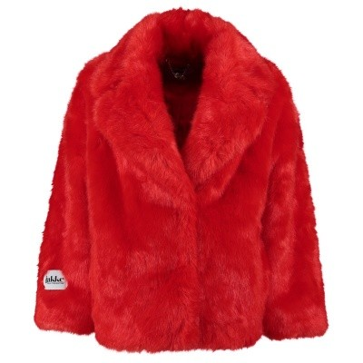 Picture of Jakke Rita fakefur jacket red