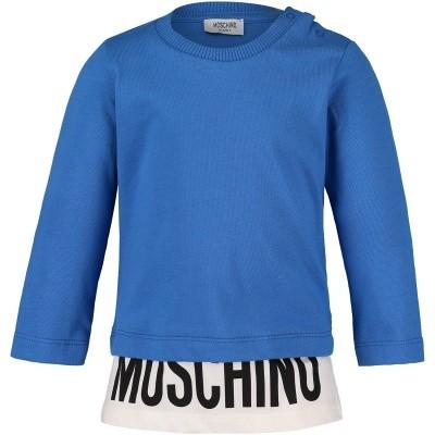 Picture of Moschino MUM01W baby shirt cobalt blue