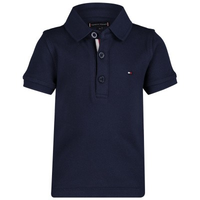 Picture of Tommy Hilfiger KB0KB04527 B baby poloshirt navy