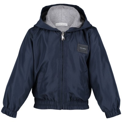 Picture of Dolce & Gabbana L1JBV1 baby coat navy