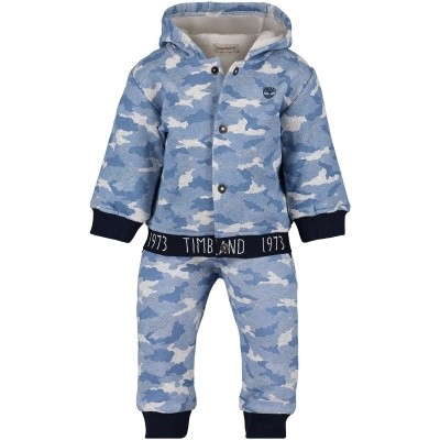 Picture of Timberland T98261 baby sweatsuit blue