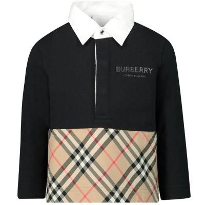 Afbeelding van Burberry 8012410 baby polo zwart