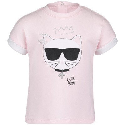 Afbeelding van Karl Lagerfeld Z95045 baby t-shirt licht roze