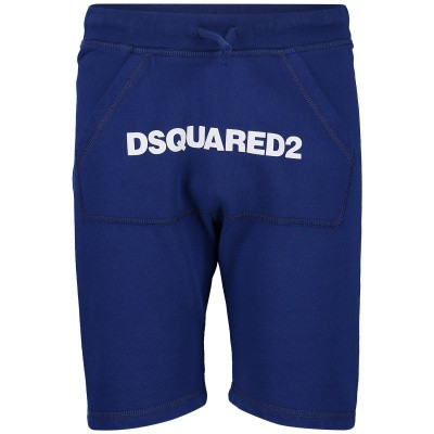 Picture of Dsquared2 DQ03B1 kids shorts cobalt blue