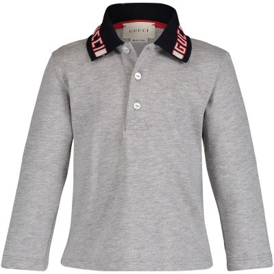 Picture of Gucci 535710 baby poloshirt grey