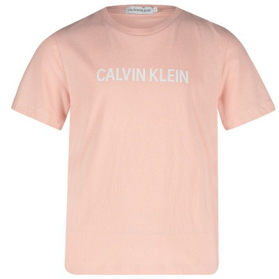 Picture of Calvin Klein IG0IG00140 kids t-shirt light pink